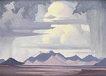 Jacob Hendrik Pierneef-(South African, 1886-1957)-Highveld Storm