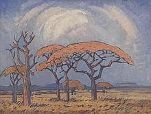 Jacob Hendrik Pierneef-(South African, 1886-1957)-'Springbok Flats, scene near Warm Baths'