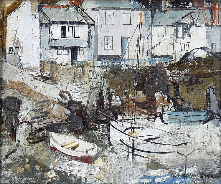 George Hammond Steel (British, 1900-1960) Mousehole, Cornwall