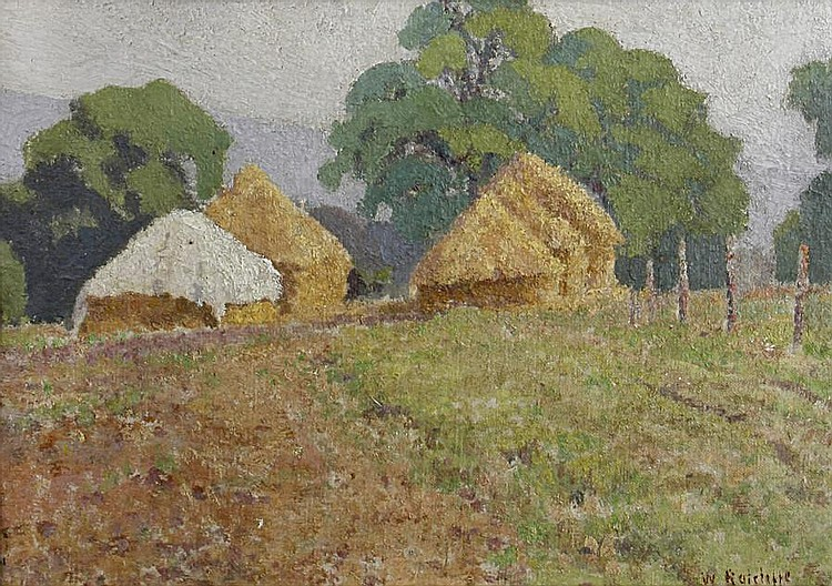 William Ratcliffe (British, 1870-1955) Haystacks