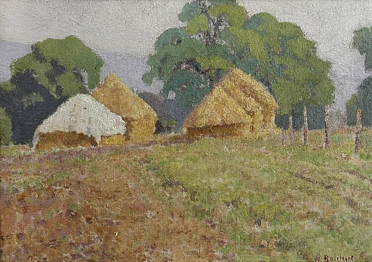 William Ratcliffe (British, 1870-1955) Haystacks