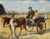 Stanhope Alexander Forbes R.A. (1857-1947) The short cut across the fields signed and dated 1921 (lower right), oil on canvas 100.5 x 127 cm. (39 1/2 x 50 in.)