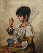 Alexei Alexeevich Harlamoff (Russian, 1840-1925) Young girl blowing bubbles, Alexej Harlamoff, Click for value
