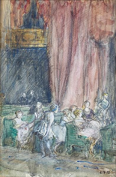Eleanor Fortescue-Brickdale (British, 1871-1945) Theatre audience