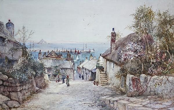 James Hughes Clayton (British, active 1891-1929) 'Newlyn, Cornwall',