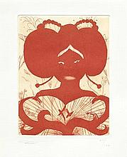AR Chris Ofili (British, born 1968) Untitled Etching with aquatint and dryp