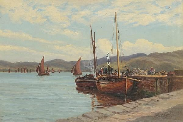 William Dalglish Loading fishing boats on the West Coast
