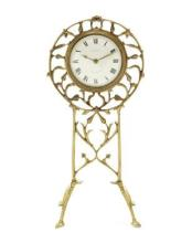 W.A S Benson- A Rare Arts and Crafts Brass Clock, circa 1880