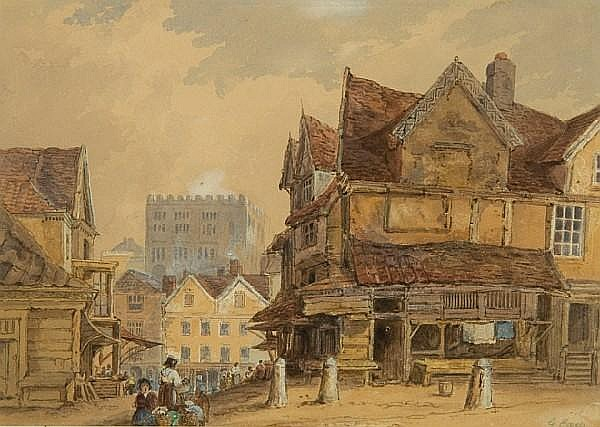 George Earp (British) Market place, Norwich