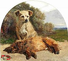 William Davis (British, 1812-1873) Scotch Terriers