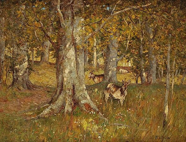 William MacBride (British, died 1915) In the woods