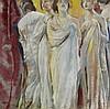 CHARLES SIMS (British, 1873-1928) Five Singing