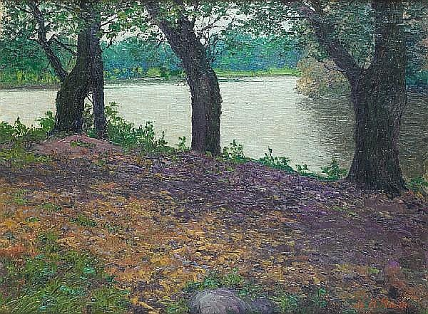 Karl Nikolaevich Kahl (Russian, 1873-1938) On the river