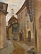 Vasili Ivanovich Shukhaev (Russian, 1887-1972) A church in a street near Tours, Vasilij Ivanovič Šuchaev, Click for value