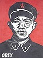 Shepard Fairey (b.1970) Chinese Soldier signed and dated 97 on the reverse acrylic on canvas 91.5 by 122 cm. 36 by 48 1/16 in., Shepard Fairey, Click for value
