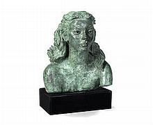* AR Sir Jacob Epstein (British, 1880-1959)  Third Portrait of Deirdre (leaning forward)