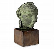 AR Sir Jacob Epstein (British, 1880-1959)  Second Portrait of Mrs Epstein (mask with earrings)