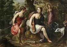Circle of Jan van Balen (Antwerp 1611-1654) Diana the Huntress