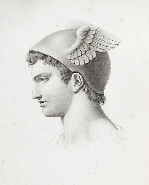 Evelyn de Morgan (British, 1855-1919) Head of Apollo