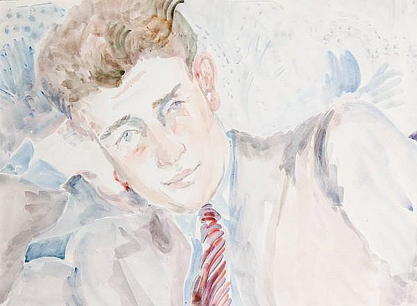 Peter Samuelson (British, 1912-1996) Head study, Peter Pennings