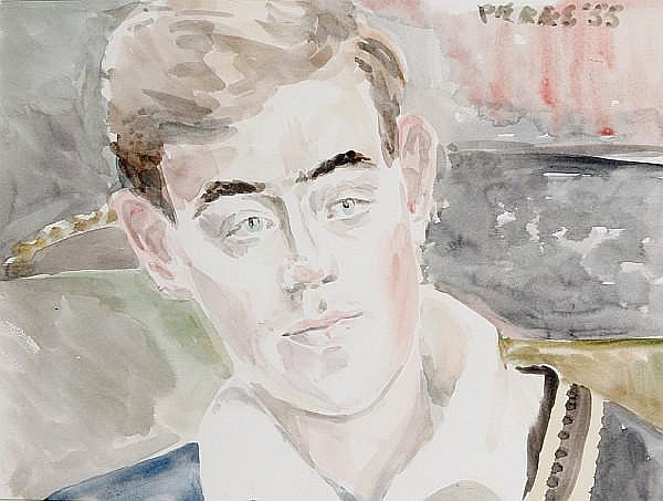 Peter Samuelson (British, 1912-1996) Head study, Tony Shatlock