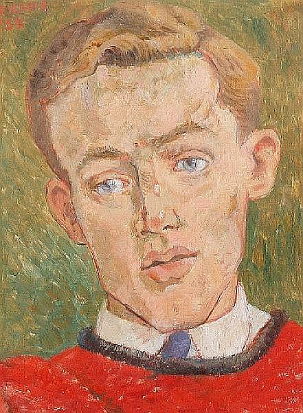 Peter Samuelson (British, 1912-1996) Portrait of Michael Rothwell, the actor