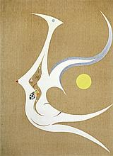 Phoenix Bird in Inner Space, 1968 85 1/2 x 62in. (217.2 x 157.5cm)
