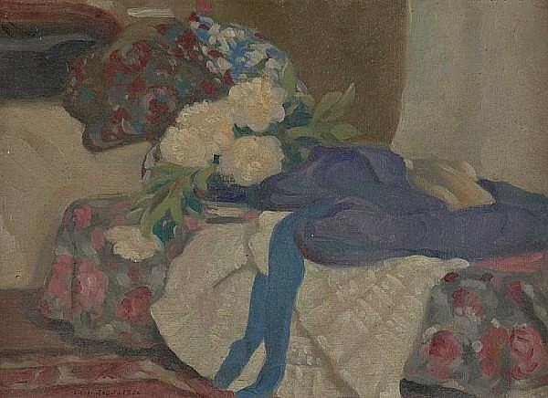 Eric Harold Macbeth Robertson (British, 1887-1941) Elegant interior