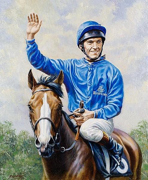 Roy Miller (British, born 1938) Frankie Dettori on Mark of Esteem