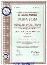 EURATOM, COMMUNAUTE EUROPEENNE DE L'ENERGIE ATOMIQUE