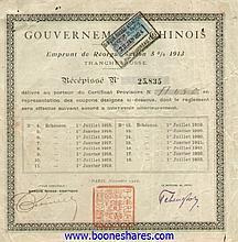 REORGANISATION LOAN 1913 (6 PIECES)