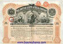 BRITISH SOUTH AFRICA CO. (3 types)