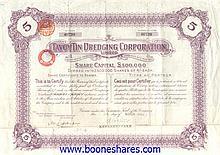 TAVOY TIN DREDGING CORPORATION, LTD.
