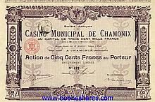 CASINO MUNICIPAL DE CHAMONIX, S.A. DU