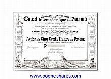 CANAL INTEROCEANIQUE DE PANAMA, CIE UNIVERSELLE DU (rarity 10)