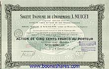 IMPRIMERIE A. MULCEY, S.A. DE L' - USINE DU MONT