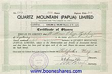 QUARTZ MOUNTAIN (PAPUA) LTD