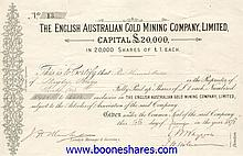 ENGLISH AUSTRALIAN GOLD MINING CO., LTD