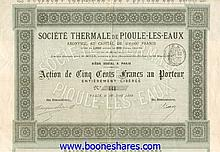 THERMALE DE PIOULE-LES-EAUX, SOC.
