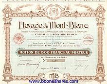 ELEVAGE DU MONT-BLANC S.A. POUR LA PRODUCTION DES ANIMAUX A FOURRURE
