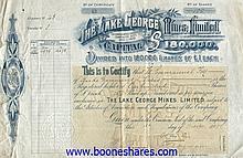 LAKE GEORGE MINES, LTD