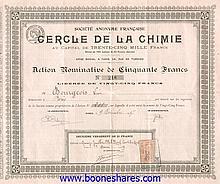 CERCLE DE LA CHIMIE, S.A. FRANCAISE DU