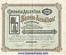 SUPER-AERATION S.A., CIA ARGENTINA