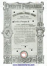 CREDITO FONDIARIO DELLA CASSA DI RISPARMIO DELLE PROV. LOMBARDE (33 types)