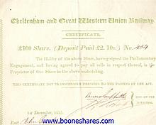 CHELTENHAM AND GREAT WESTERN UNION RAILWAY CO.