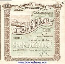 NUEVA CONCORDIA, CIA. MINERA S.A.