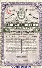 CREDITO ARGENTINO INTERNO 1934 (2 types)