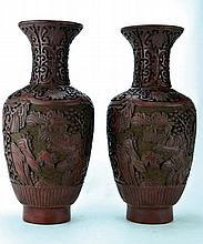 Paire de vases balustre