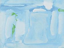DEBRE Olivier (1920-1999) Mer, Rozan, septembre 1964 Huile sur toile monogrammée en bas à droite, titrée, datée et signée au dos. 46 x 61 cm