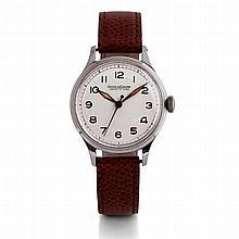 Jaeger-LeCoultre, n° 332833, vers 1950.    Une montre ronde en acie